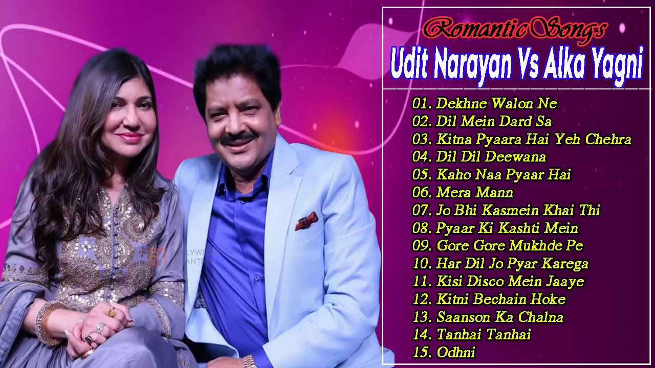 Super Hit Couple Songs (✔️3) Udit Narayan Vs Alka Yagnik || Romantic Songs Bollywood 90's Everg