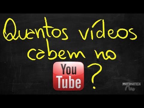 QUANTOS VÍDEOS CABEM NO YOUTUBE? | Matemática Rio