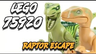 Speed Build And Review Of Lego Jurassic World Raptor Escape Set #75920