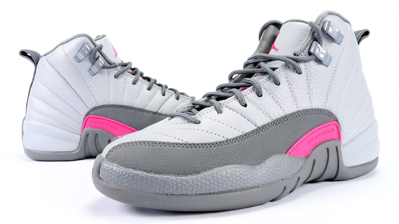 1d2c7af7ca6 Air Jordan 12 GS Vivid Pink Grey Review + On Feet