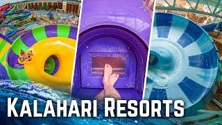 Kalahari Resorts - ALL Water Slides at ALL Parks POV!