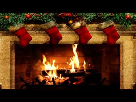 Merry Christmas Fireplace with Crackling Fire Sounds HD  YouTube