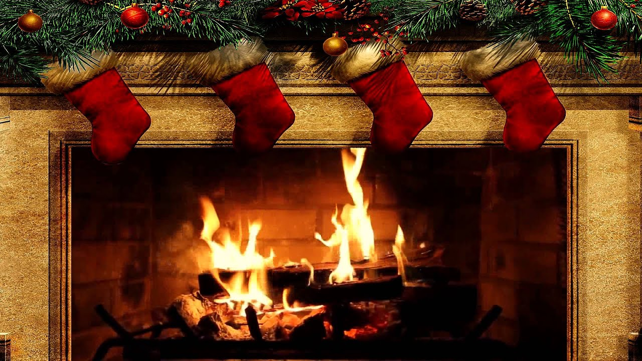 Merry Christmas Fireplace With Crackling Fire Sounds Hd