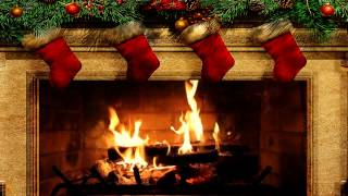 Repeat youtube video Merry Christmas Fireplace with Crackling Fire Sounds (HD)