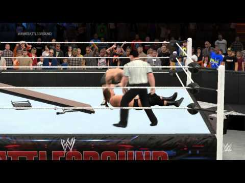 WWE Battleground: John Cena (c) vs Triple H - WCW World Heavyweight Championship