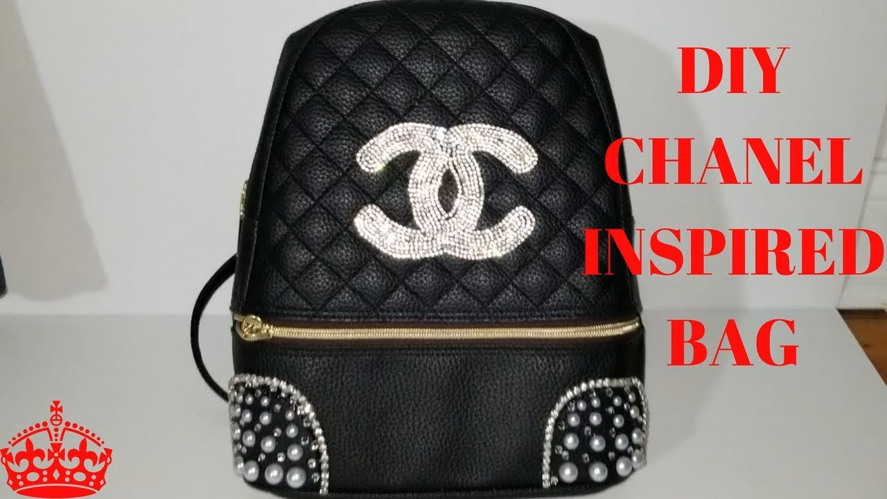 7153b624468b DIY CHANEL INSPIRED BACKPACK - YouTube