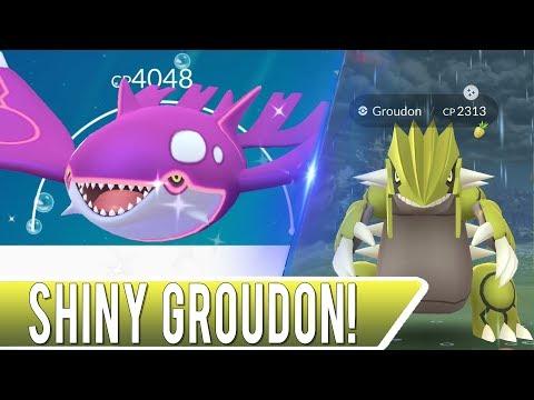 SHINY GROUDON RELEASED! New Hoenn Event in Pokémon GO Shiny Kyogre and Groudon Raiding! thumbnail