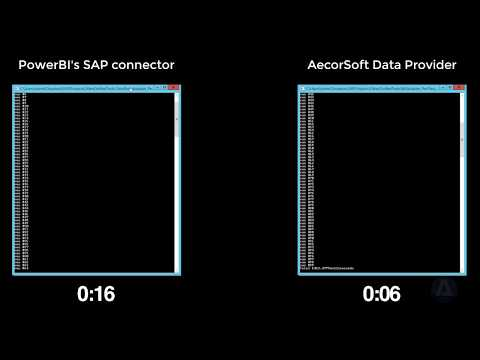 Aecrosoft Data Provider vs other third party connector calling SAP RFC