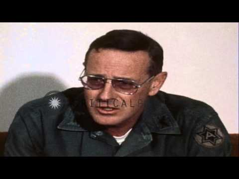 Colonel William Beckwith answers questions regarding REFORGER 77 at a press...HD Stock Footage