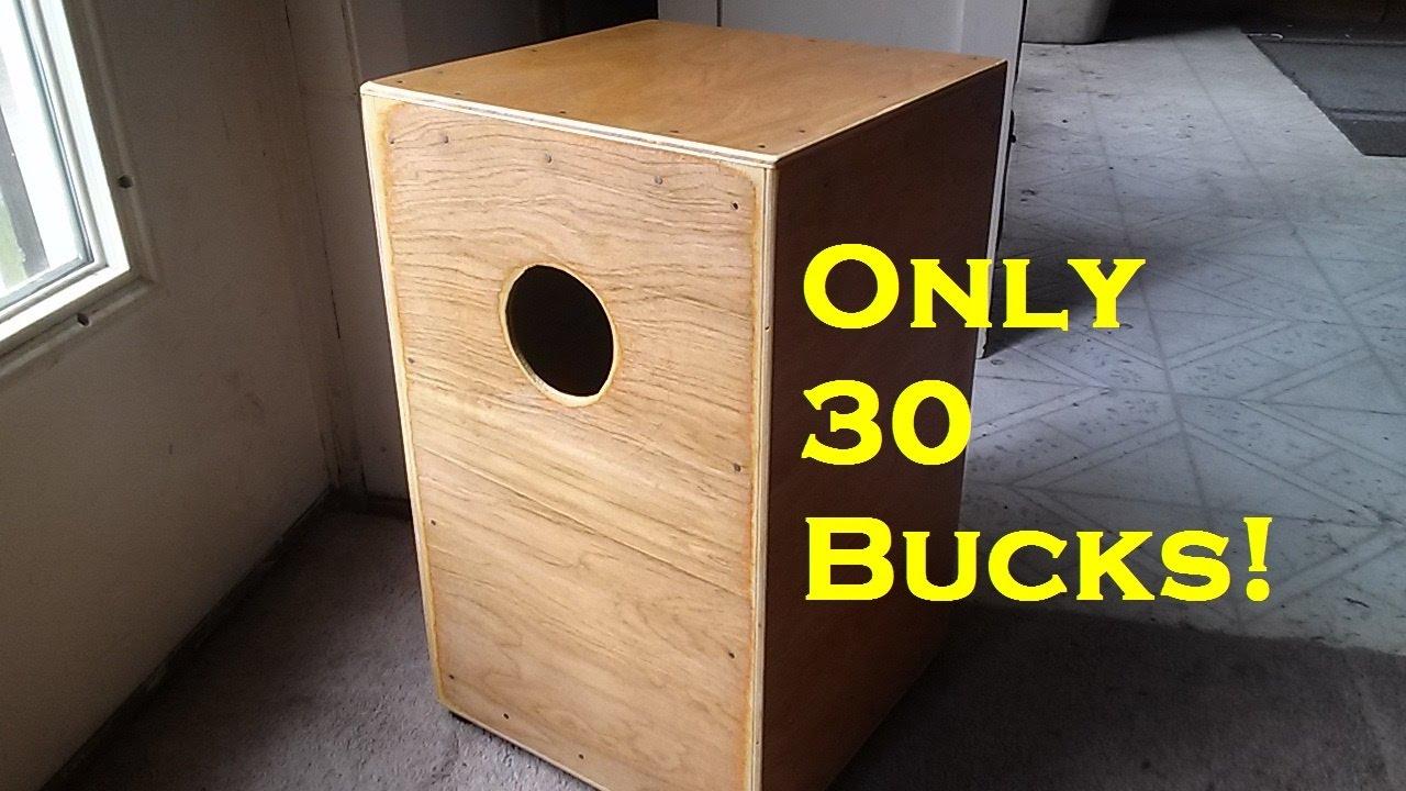 $30 Cajon drum YOU can make - YouTube