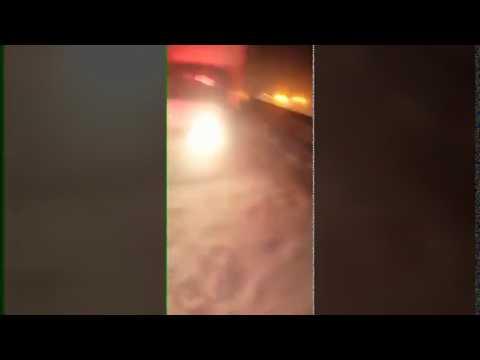 Снежный ураган на трассе Невинномысск Ставрополь