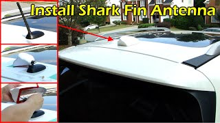 Install Shark Fin Antenna To Replace Rubber Pole Sirius XM Antenna Nissan Pathfinder