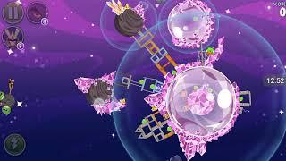 Прохождение Angry Birds Space #12 [Планета Cosmic Crystals]{полностью}