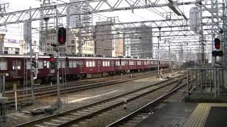 [阪急電鉄] 神戸線と宝塚線に8000系だらけ! 十三にて