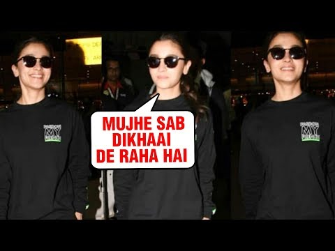 Alia Bhatt Is All Smiles For The Media At Mumbai Airport | SPOTTED