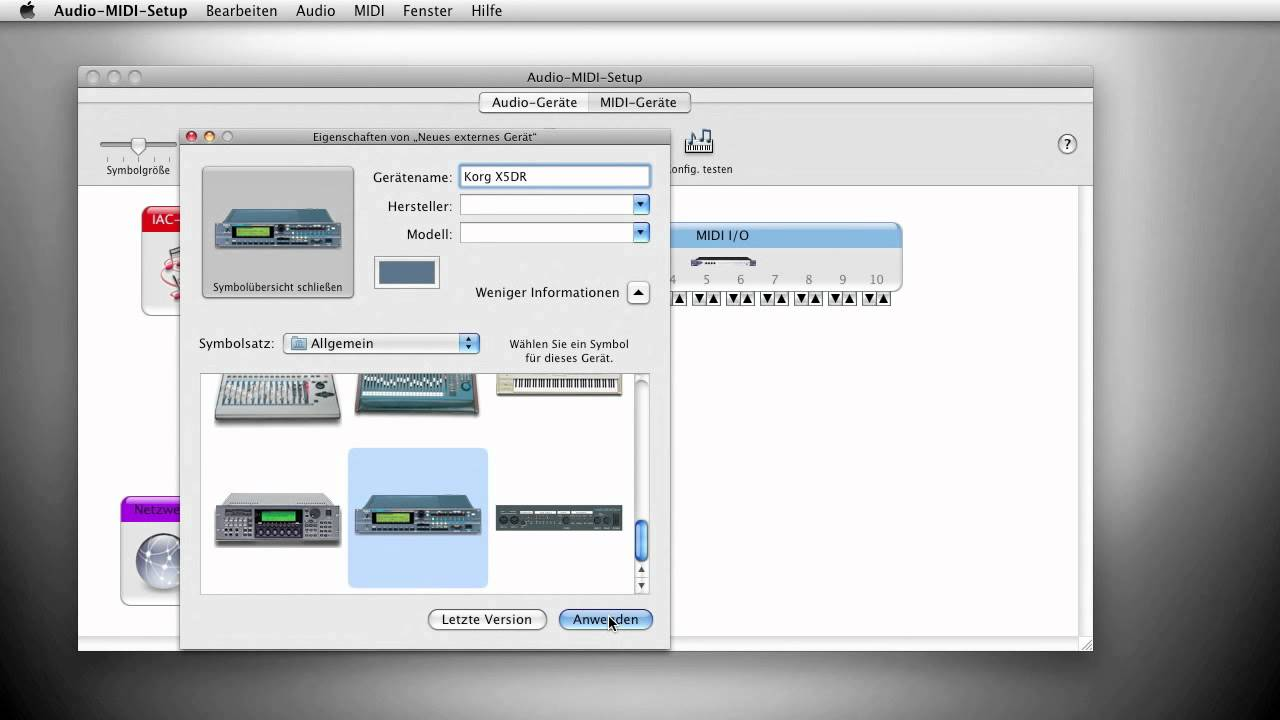 OS X MIDI-Setup