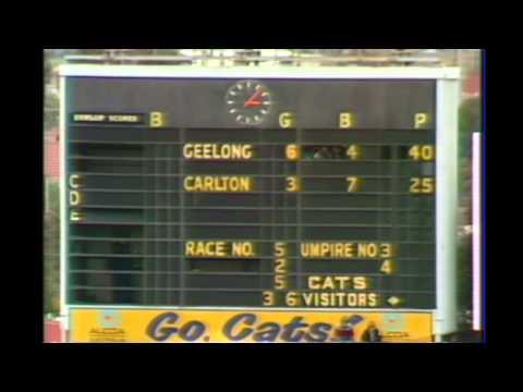 Kardinia Park Scoreboard 1983 Round 17