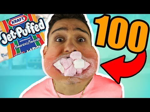 Thumbnail: i can fit 100 marshmallows in my mouth!