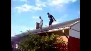 free Funny Video Clip Online Free download videos Trampoline Accident Sends Kids Flying Into A Tree