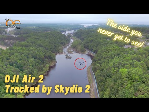 DJI MAVIC AIR 2 - WITH SKYDIO 2 BEACON ATTACHED @ OCCOQUAN RIVER MILL PARK