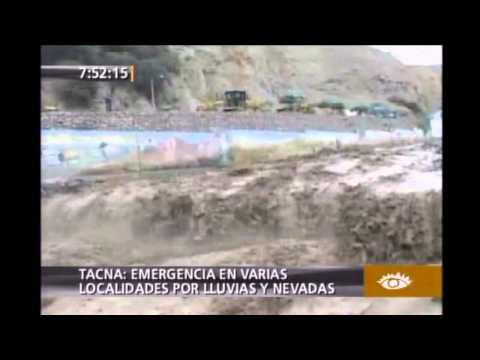 Emergencias en varias localidades por lluvias y nevadas en Tacna