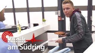 Nach Unfall: Verwirrter Mann wirft mit Pizza um sich | Klinik am Südring | SAT.1 TV