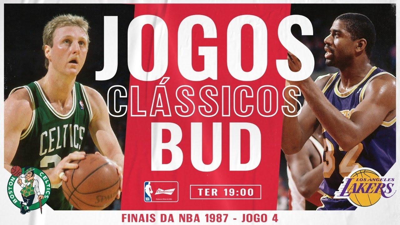 Boston Celtics x Los Angeles Lakers - FINAIS DE 1987 - JOGO 4 - JOGOS CLÁSSICOS BUD