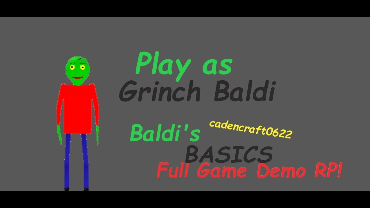 Roblox Baldi S Basics Rp Update Baldis Basics Full Game Demo Rp Roblox