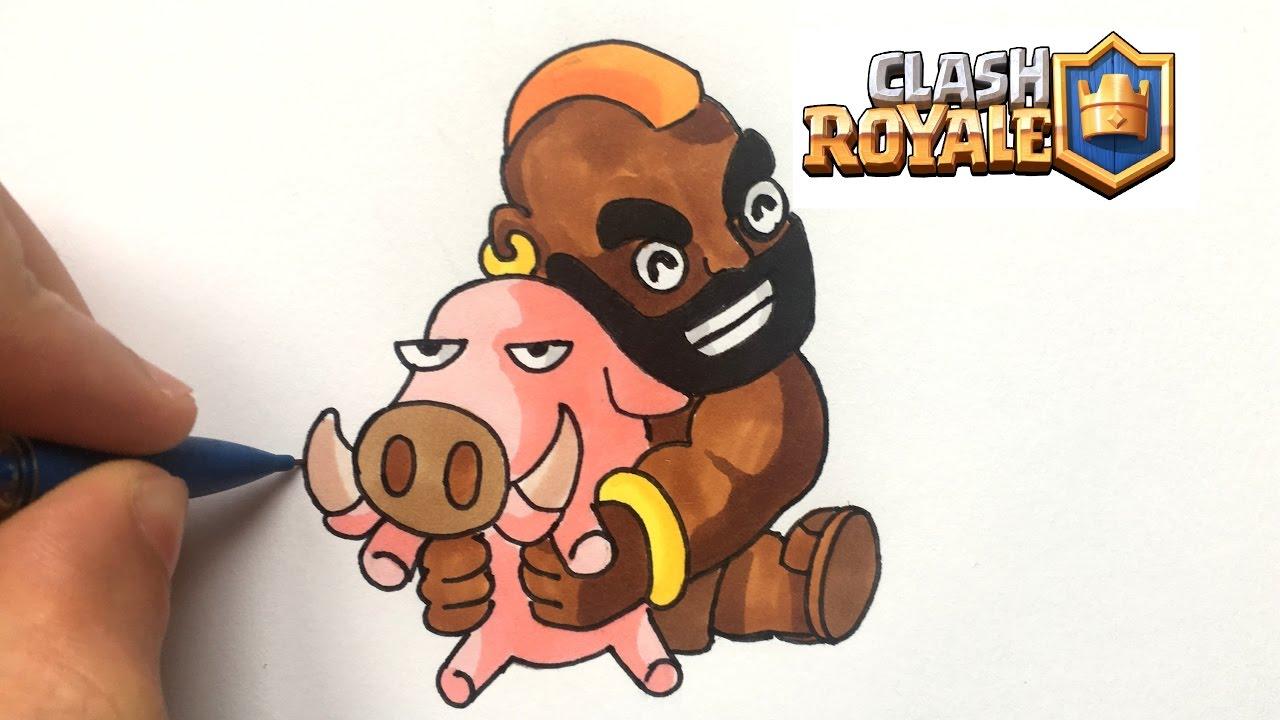 Dessin chevaucheur de cochon clash royale youtube - Dessin cochon ...