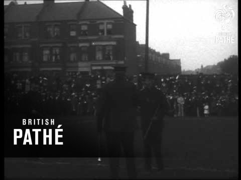 """Sir Edward Ward Inspects Special Constables Of The """"Y"""" Division At Tufnell Park (1916)"""