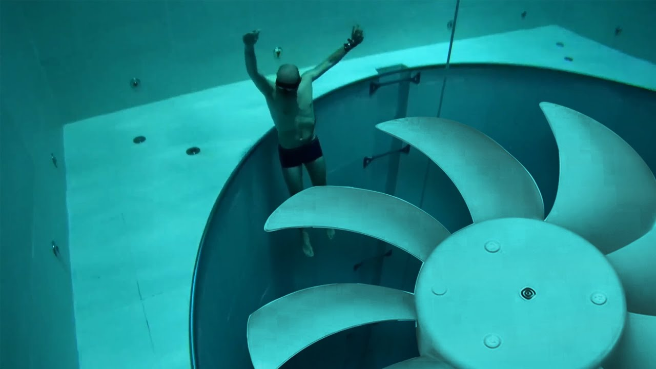 he couldn't escape the deepest pool in the world...