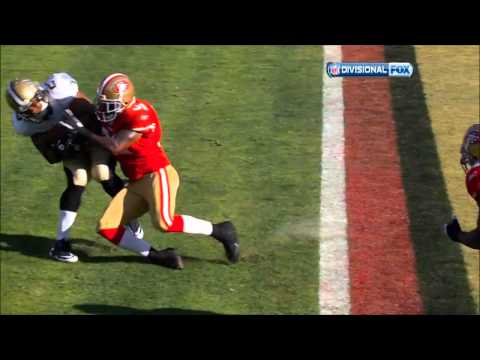 Donte Whitner Blows Up Pierre Thomas Saints vs 49ers NFC Divisional Playoffs