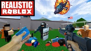 REALISTIC ROBLOX - ESCAPING ROBLOX PRISON IN REAL LIFE! ROBLOX IRL PRISON ESCAPE!