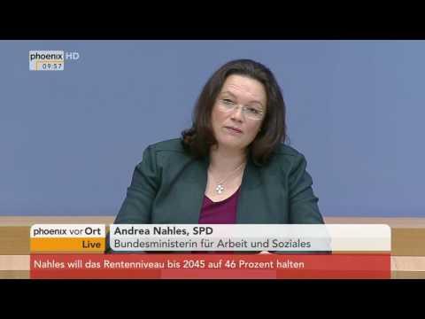 Alterssicherung: Andrea Nahles stellt Gesamtkonzept vor am 25.11.2016
