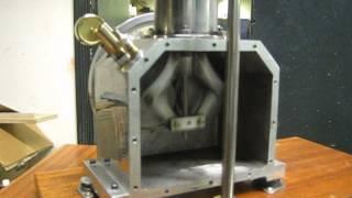 beta rhombic drive twin crank pressurised hot air engine