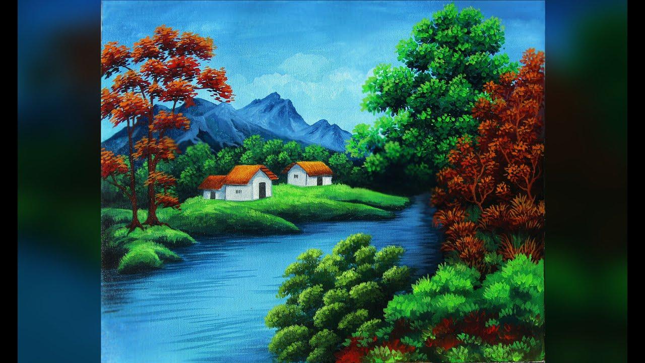 Acrylic painting tutorial landscape / Acrylic Painting ...