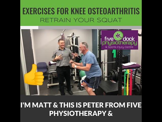Knee Arthritis - Retrain your squat