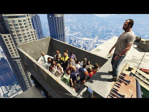GTA 5 Epic Ragdolls GROUP SPECIAL (Euphoria Showcase)