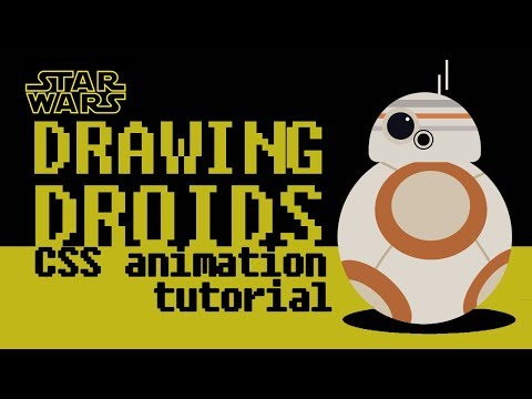 Drawing Star Wars Droid With CSS - Animated Background Tutorial, CSS3 Web Design Ideas For Beginners