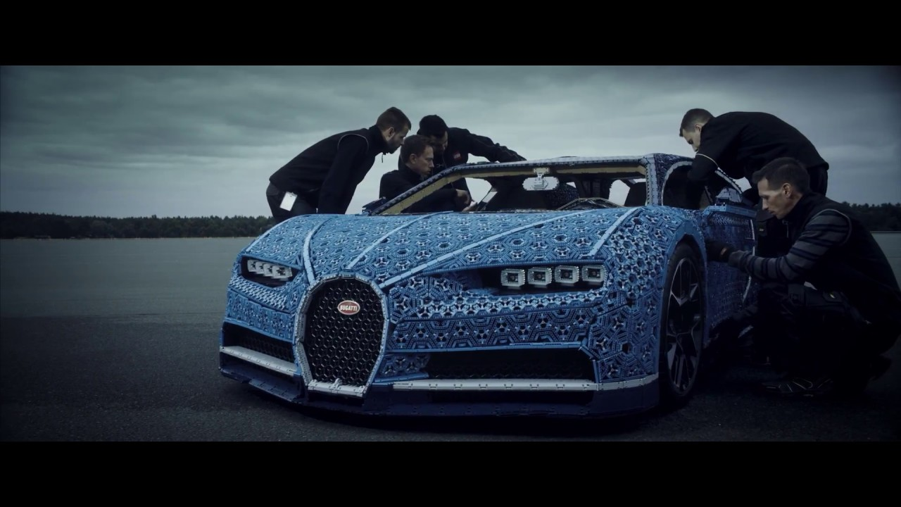 First Ever Life Size And Drivable Lego Technic Bugatti Chiron On The