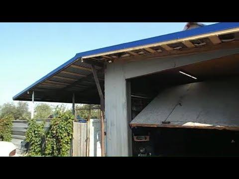 ПЕРЕОБОРУДОВАНИЕ ГАРАЖА / Новая крыша + 3-х оборотный котел для отопления мастерской.