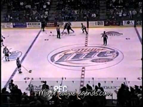 Dec 27, 2003 David Ambler vs Rob Frid Muskegon Fury vs Rockford Icehogs UHL