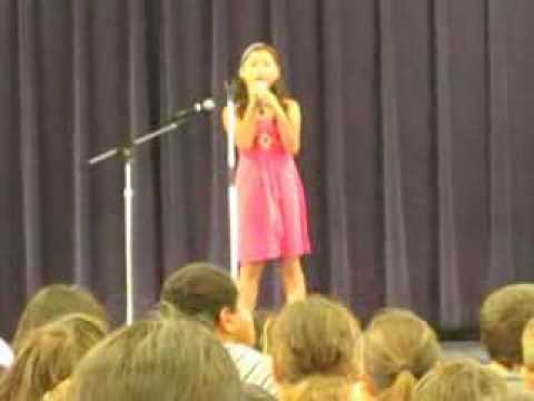 Kipapa Elementary School Talent Show May 2013 - Aolani sings This is the Stuff