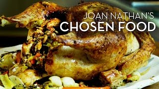 Joan Nathans Brined Turkey with Challah Chestnut Stuffing