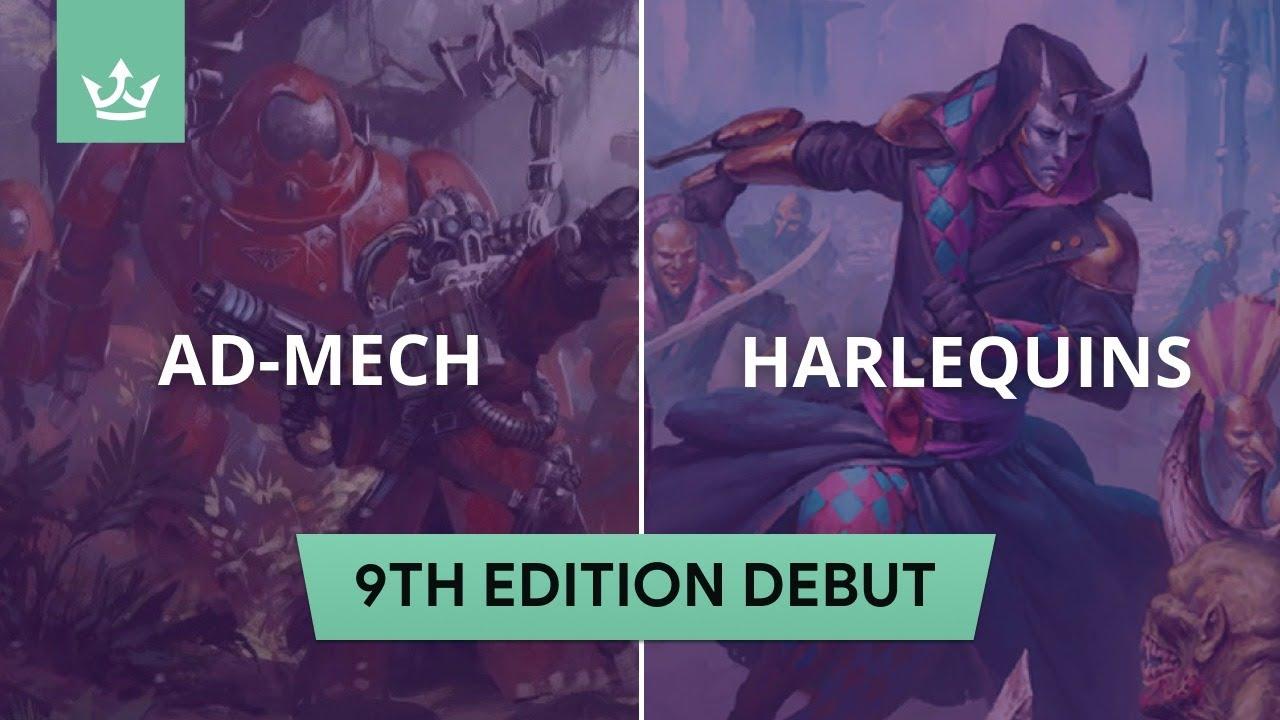 Ad-Mech vs Harlequins - 9th edition 40k battle report