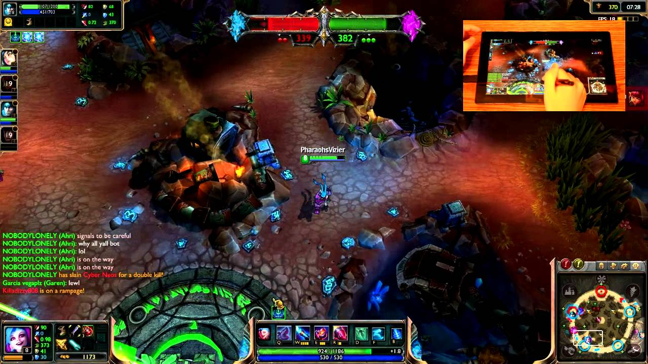 League Of Legend On A Tablet Touchscreen Controls [GUIDE