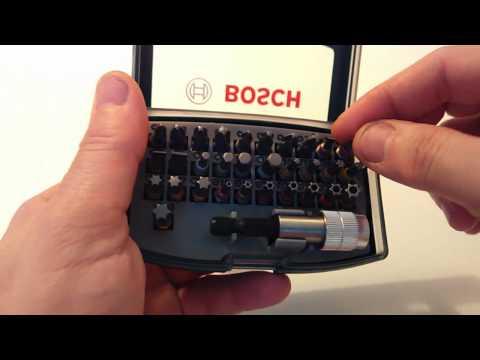 Видео обзор: Набор бит BOSCH 32 предмета COLORED