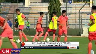 HLV Hoàng Anh Tuấn dẫn dắt đội tuyển U18 VIệt Nam tại giải U18 Đông Nam Á