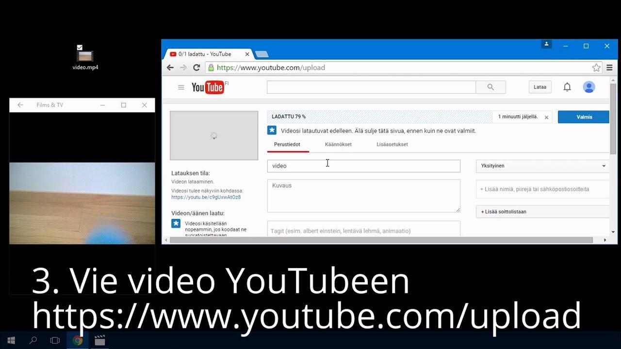 Youtube Videon Tekeminen