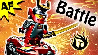 SAMURAI X vs SNAPPA Spinjitzu Spinner Battle - Lego Ninjago Stop Motion Set Review 9566 9564